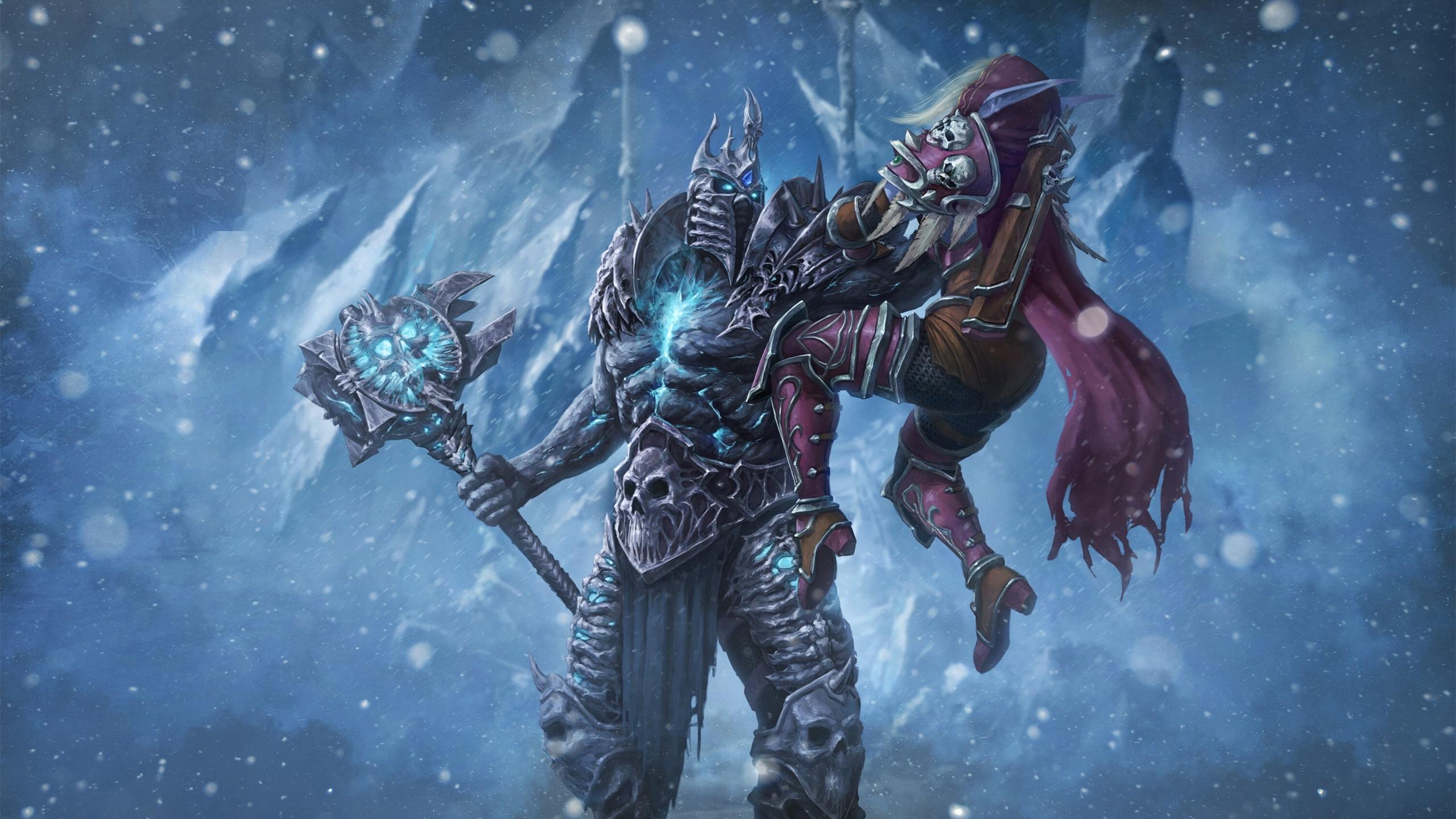 游戏壁纸,魔兽世界,冰封王座,巫妖王,希尔瓦娜斯