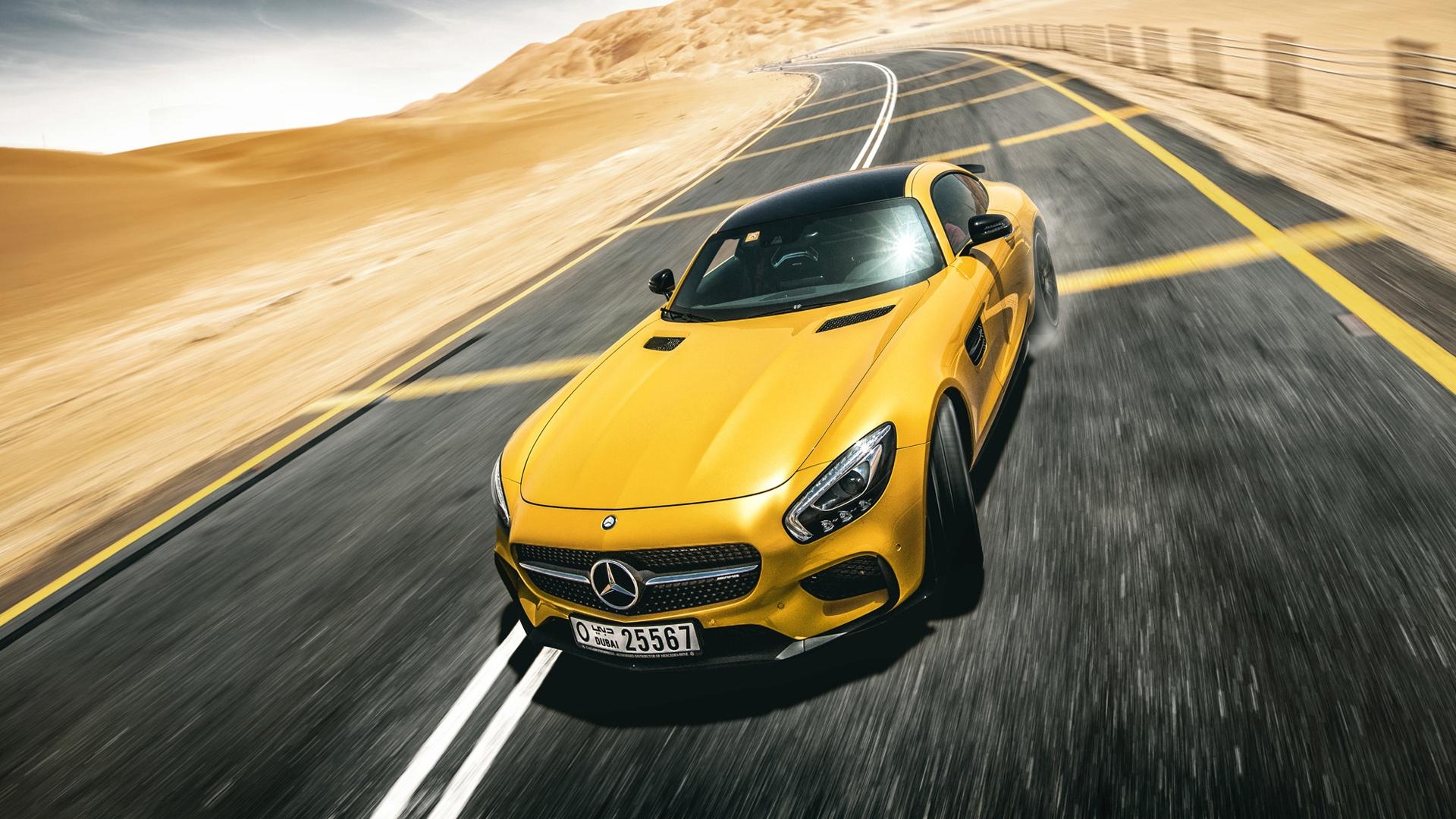 汽车天下,奔驰,速度,黄色跑车