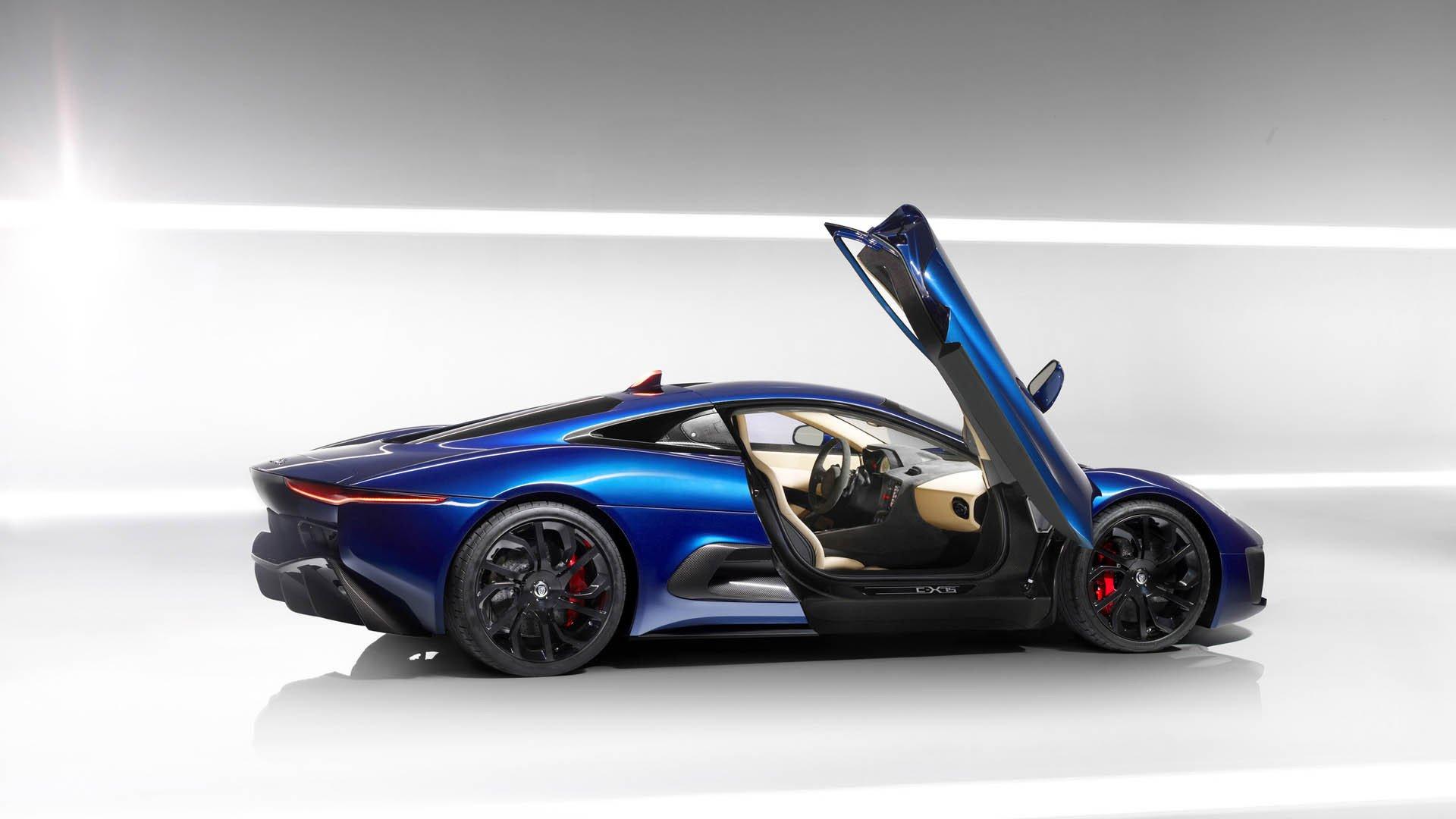 汽车天下,捷豹,C-X758,蓝色跑车