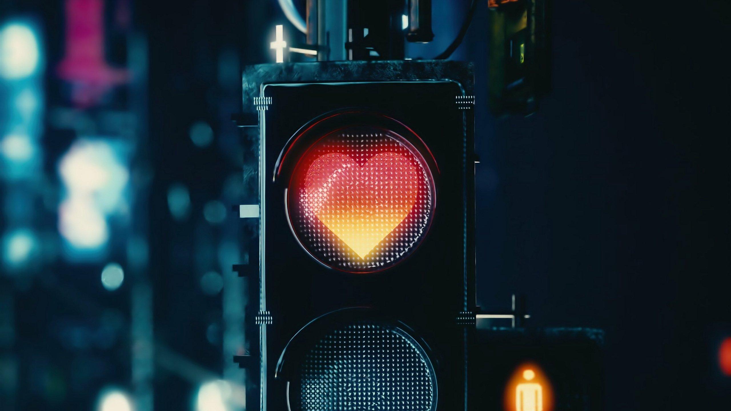 爱情美图,心动创意,红绿灯,爱心