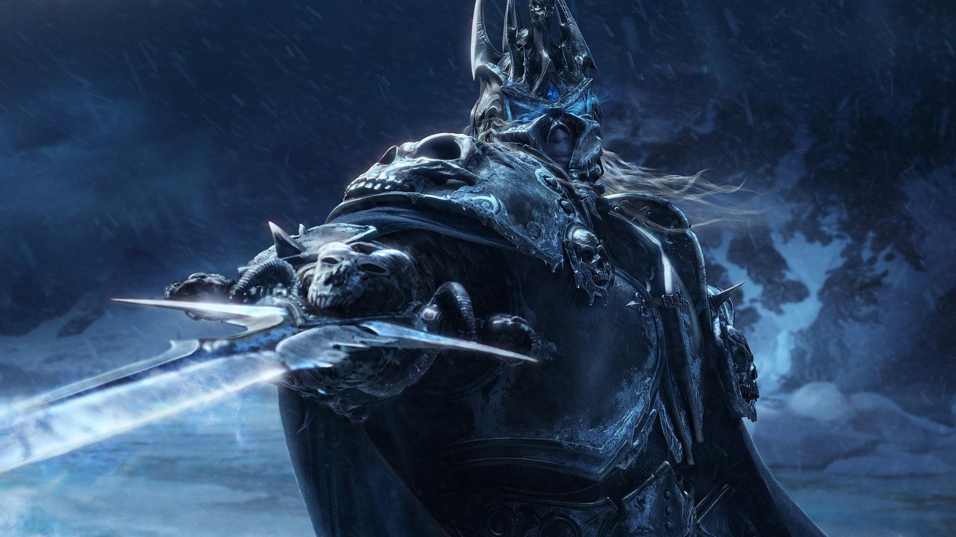 游戏壁纸,魔兽世界,巫妖王,阿尔萨斯